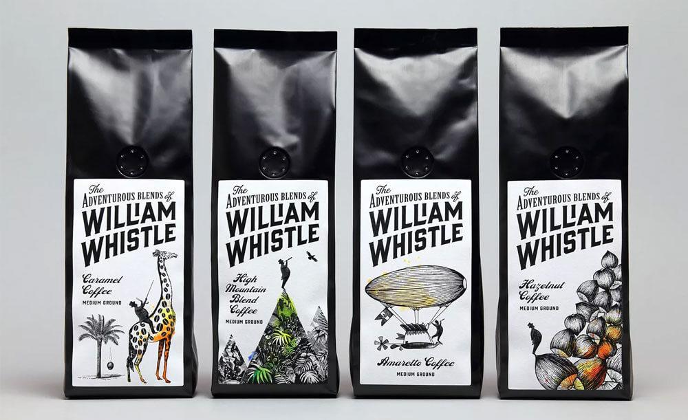 Этикетки для кофе в зернах
